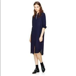 Aritzia Babaton Frederick Crepe Shirt Dress